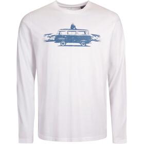 Elkline Fernweh Camiseta de manga larga Hombre, white/vw
